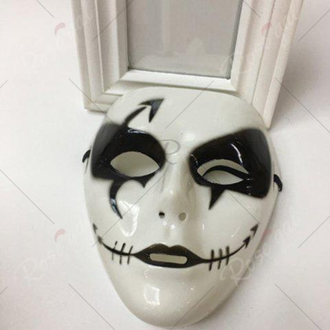 New Halloween Party Dancer Accessories Ghost Mask - FOR MEN (W16.5*H19.5CM) WHITE Mobile