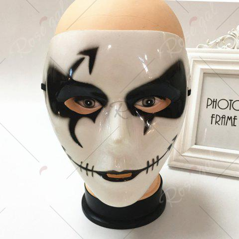 Store Halloween Party Dancer Accessories Ghost Mask - FOR MEN (W16.5*H19.5CM) WHITE Mobile