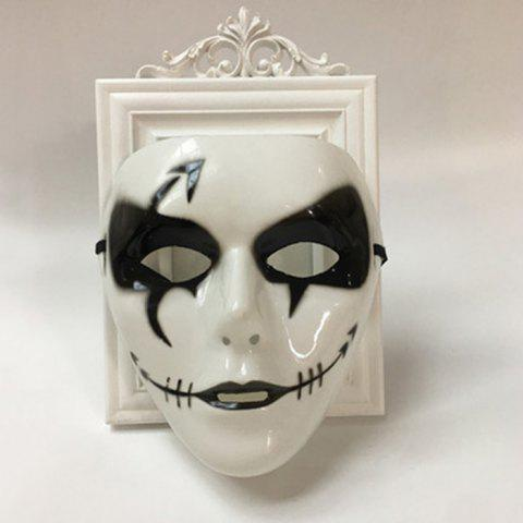 Sale Halloween Party Dancer Accessories Ghost Mask WHITE FOR MEN (W16.5*H19.5CM)