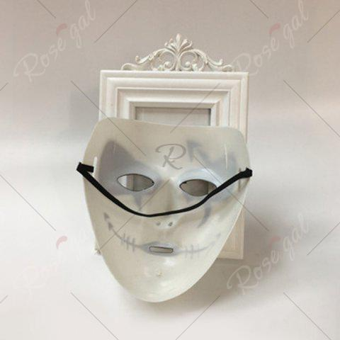 Hot Halloween Party Dancer Accessories Ghost Mask - FOR MEN (W16.5*H19.5CM) WHITE Mobile