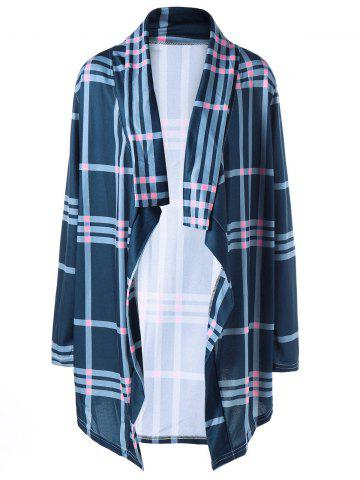 Collier en châle Checked Drape Cardigan