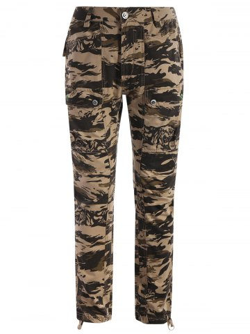 Affordable Pockets Camo Print Pants - 3XL ACU CAMOUFLAGE Mobile