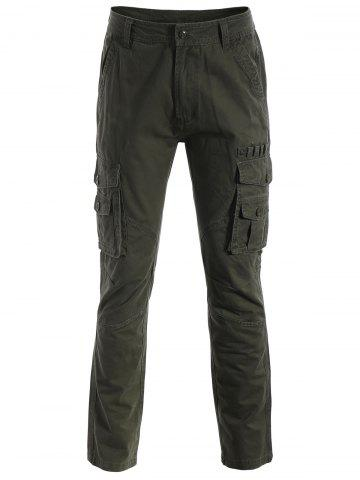 Online Multi-pockets Pants ARMY GREEN 3XL