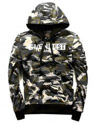 Drawstring Pullover Camo Hoodie
