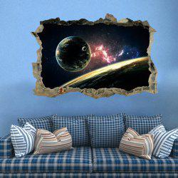 Planet 3D Broken Wall Art Sticker For Bedroom