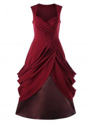 Ruched Vintage Sweetheart Party A Line Dress