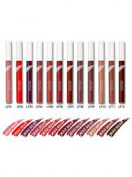 12 Colors Waterproof Moisturizing Long Wear Lip Glaze - COLORFUL