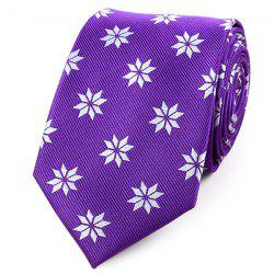 Geometric Flower Printed Polyester Neck Tie -