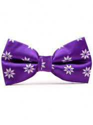 Polyester Geometrical Flower Pattern Bow Tie