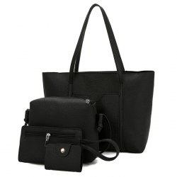 Faux Leather 4 Pieces Shoulder Bag Set -