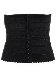 Stretchy Waist Training Corset - BLACK M