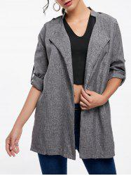 Oversized Open Front Tunic Coat -