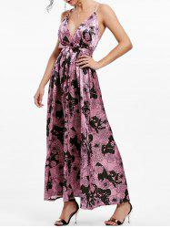 Maxi Floral Backless Plunge Cami Dress