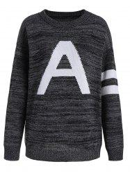 Pullover Knit Plus Size Graphic Sweater
