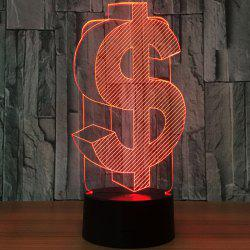 Novelty Dollar Shape 7 Color Change LED Night Light