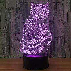 Owl Shape 7 Colors Changing 3D Night Light