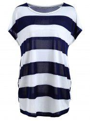 Color Block Stripe Tunic T-shirt