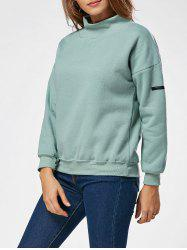 Fleece High Neck Sweatshirt