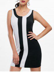 Mini Two Tone Fitted Tight Dress