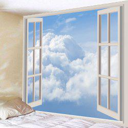 Waterproof Faux Window Cloud Wall Hanging Tapestry