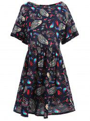 Cold Shoulder Printed Plus Size Tunic Top