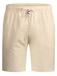 Beaded Drawstring Bermuda Shorts -
