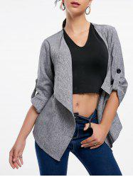Open Front Draped Blazer -