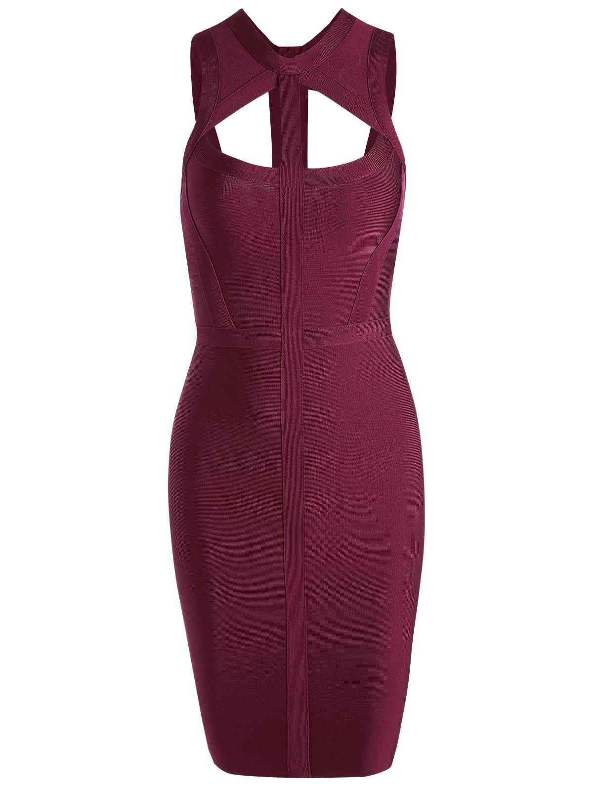 New Caged Cut Out Bodycon Bandage Dress