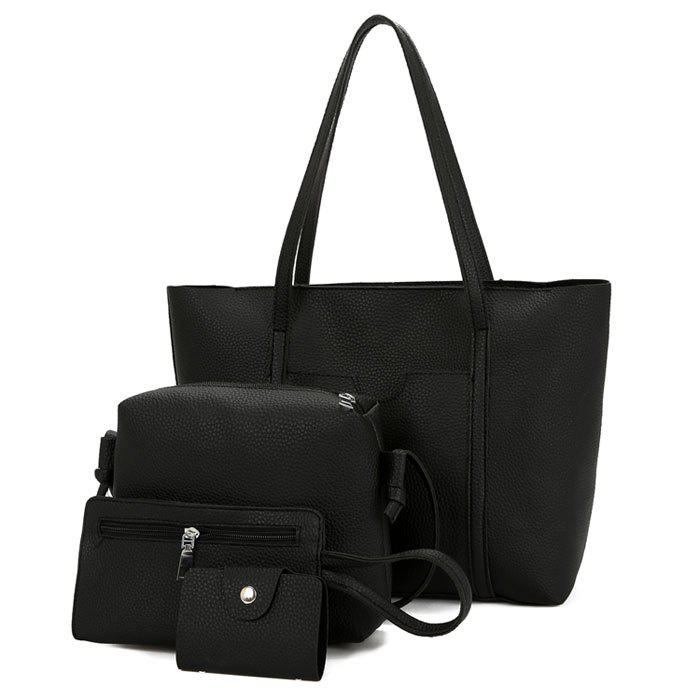 Faux Leather 4 Pieces Shoulder Bag Set