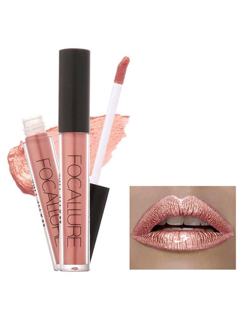 Metallic Color Moisturizing Waterproof Lip GlazeBEAUTY<br><br>Color: #02; Category: Lip Gloss; Type: Cream; Features: Limits Bacteria; Season: Fall,Spring,Summer,Winter; Weight: 0.0400kg; Package Contents: 1 x Lip Gloss;