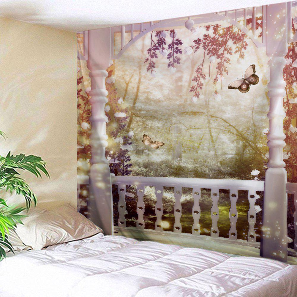 Fairyland Wall Hanging Tapestry For Dorm DecorHOME<br><br>Size: W71 INCH * L91 INCH; Color: COLORMIX; Style: Romantic; Theme: Fairytale Theme,Landscape; Material: Polyester; Feature: Removable,Washable; Shape/Pattern: Print; Weight: 0.3800kg; Package Contents: 1 x Tapestry;