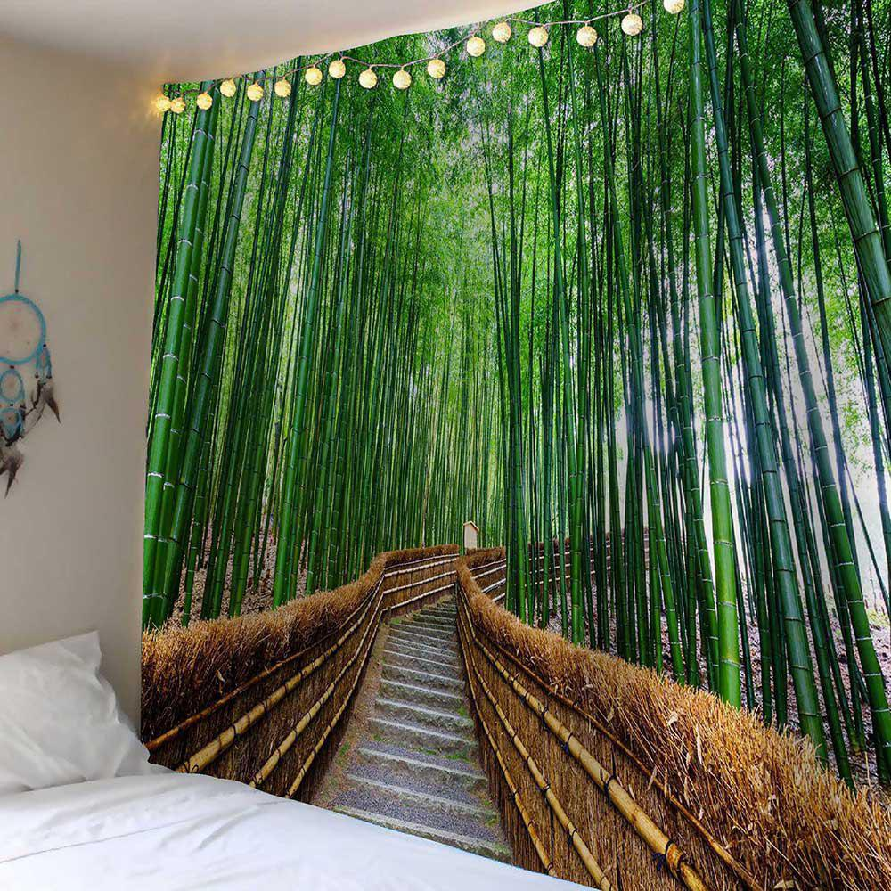 Hot Bamboo Grove Pathway Waterproof Tapestry