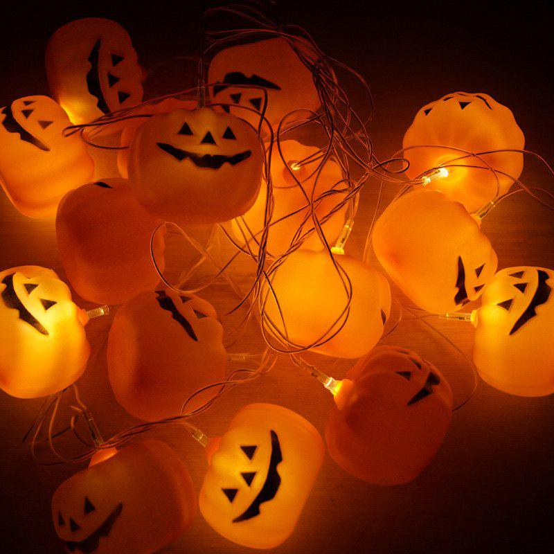 16 Pcs LED Halloween Party Pumpkin String LightsHOME<br><br>Color: ORANGE RED; Products Type: Novelty Lighting; Materials: Plastic; Style: Novelty; Occasion: Halloween,Outdoor Wall,Party Supplies; Weight: 0.4800kg; Package Contents: 1 x String Lights;