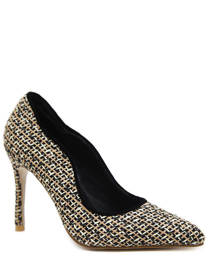 Store Gien Check Sequins Stiletto Heel Pumps