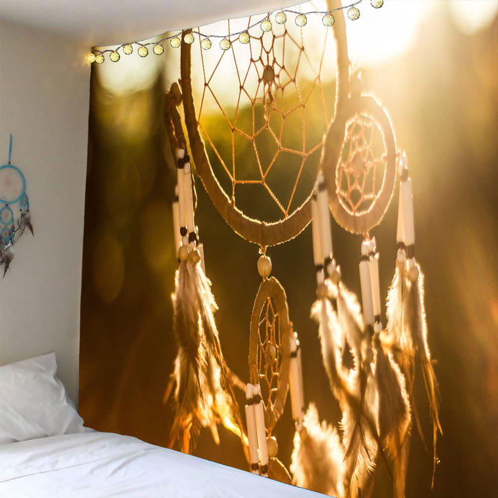 Wall Hanging Feather Aeolian Bells Pattern Waterproof TapestryHOME<br><br>Size: W71 INCH * L71 INCH; Color: EARTHY; Style: Romantic; Material: Polyester; Feature: Removable,Washable; Shape/Pattern: Feather; Weight: 0.3600kg; Package Contents: 1 x Tapestry;