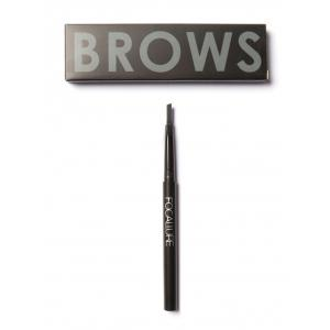Two Head Waterproof Auto Brows Pencil With Brush - Black