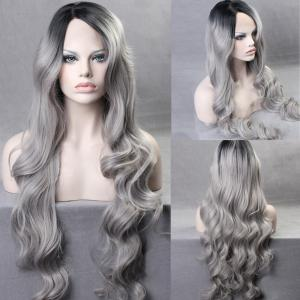Ultra Long Side Part Colormix Gradient Body Wave Synthetic Wig