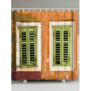Ancient House Print Extra Long Shower Curtain - Colormix - W71 Inch * L79 Inch