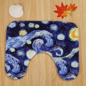 Galaxy Painting Pattern 3 Pcs Bath Mat Toilet Mat -
