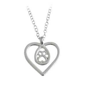 Heart Claw Footprint Teardrop Necklace