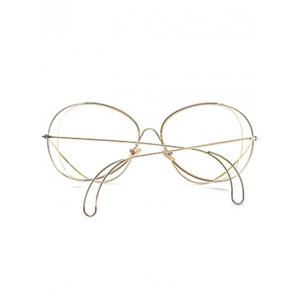 Anti UV Metallic Curve Surround Ombre Sunglasses - TRANSPARENT