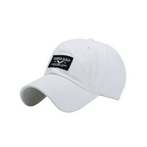Sunscreen Letters Patchwork Baseball Cap - WHITE