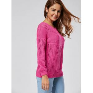 Casual Hollow Out Cable Knit Sweater - TUTTI FRUTTI M