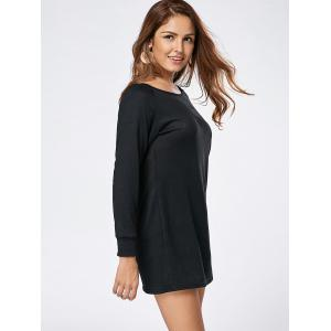Long Sleeve Jersey Tunic Top - BLACK XL