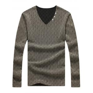 Long Sleeve Mesh Knited Plaid T-shirt