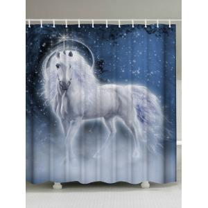 Dreamworld Unicorn Print Eco-Friendly Shower Curtain - Blue - W71 Inch * L79 Inch