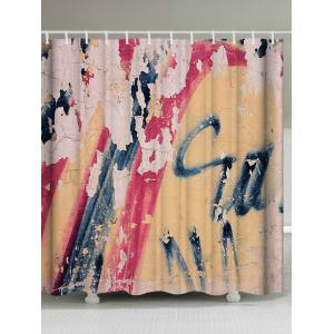 Retro Graffiti Wall Water Resistant Shower Curatin