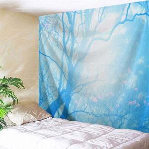 Floral Tree Print Tapestry Wall Hanging Art Decoration