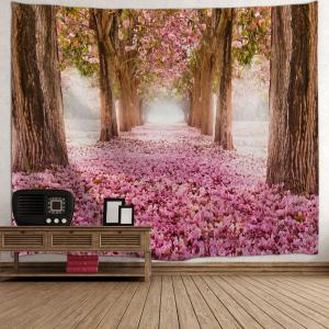 Sakura Scenery Throw Fabric Tapestry Wall Hanging -