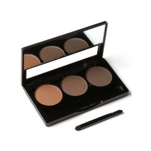 3 Colors Waterproof Eyebrow Powder Box and Mirror Brush - #03